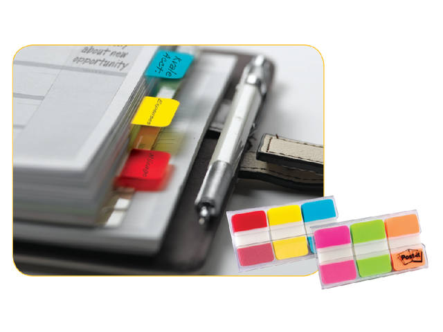 Indextabs 3M Post-it 686RYB strong rood/geel/blauw 3